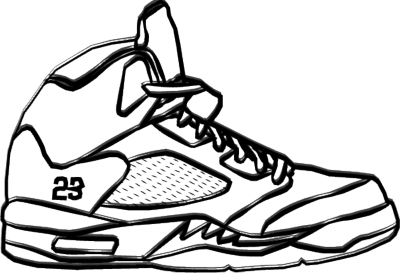 Jordan transparent line drawing. Collection of easy
