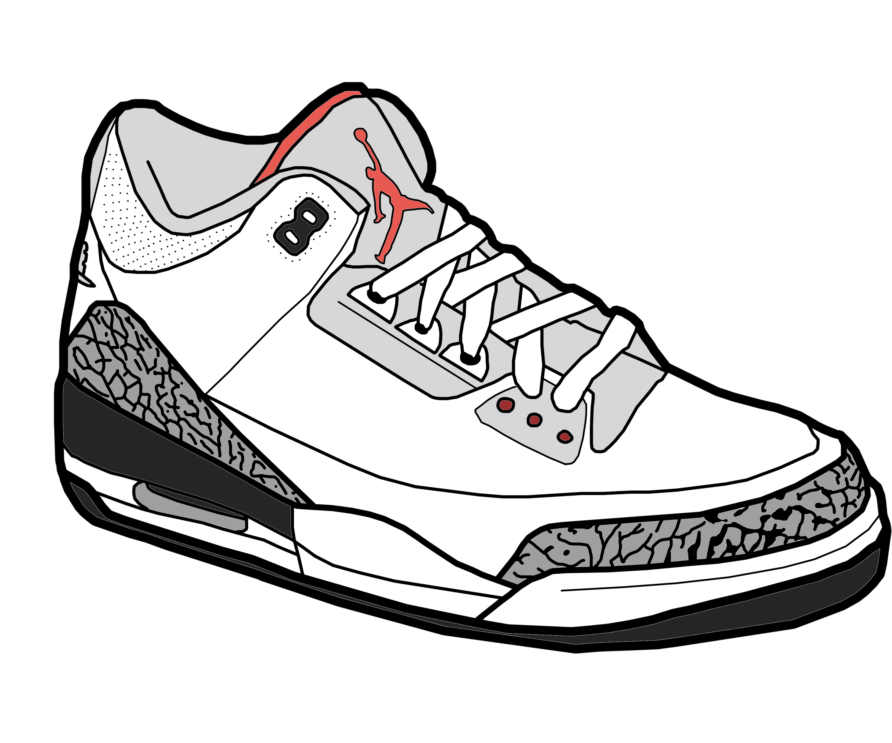Jordans transparent clipart. Nike jordan shoe pencil