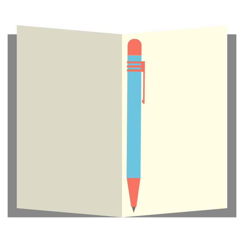 Notepad clipart diary pen. Free picture of a