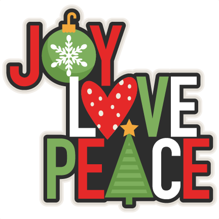 Peace clipart christmas. Free joy cliparts download