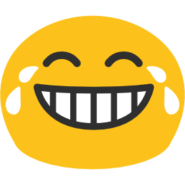 Tears of joy png. Emoji android face with