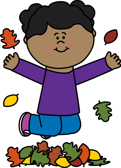 Free boy hopping cliparts. Jump clipart leaf pile picture