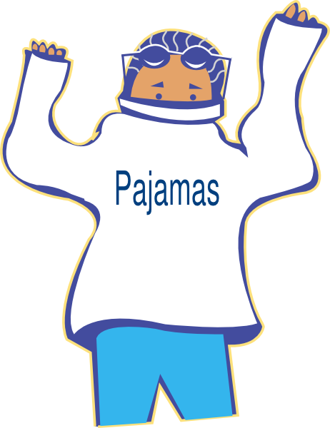 Pajama clipart night clothes. Free pictures of pajamas