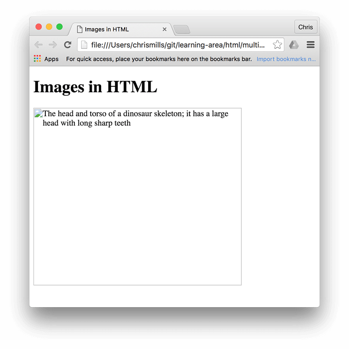 Vector syntax html. Images in learn web