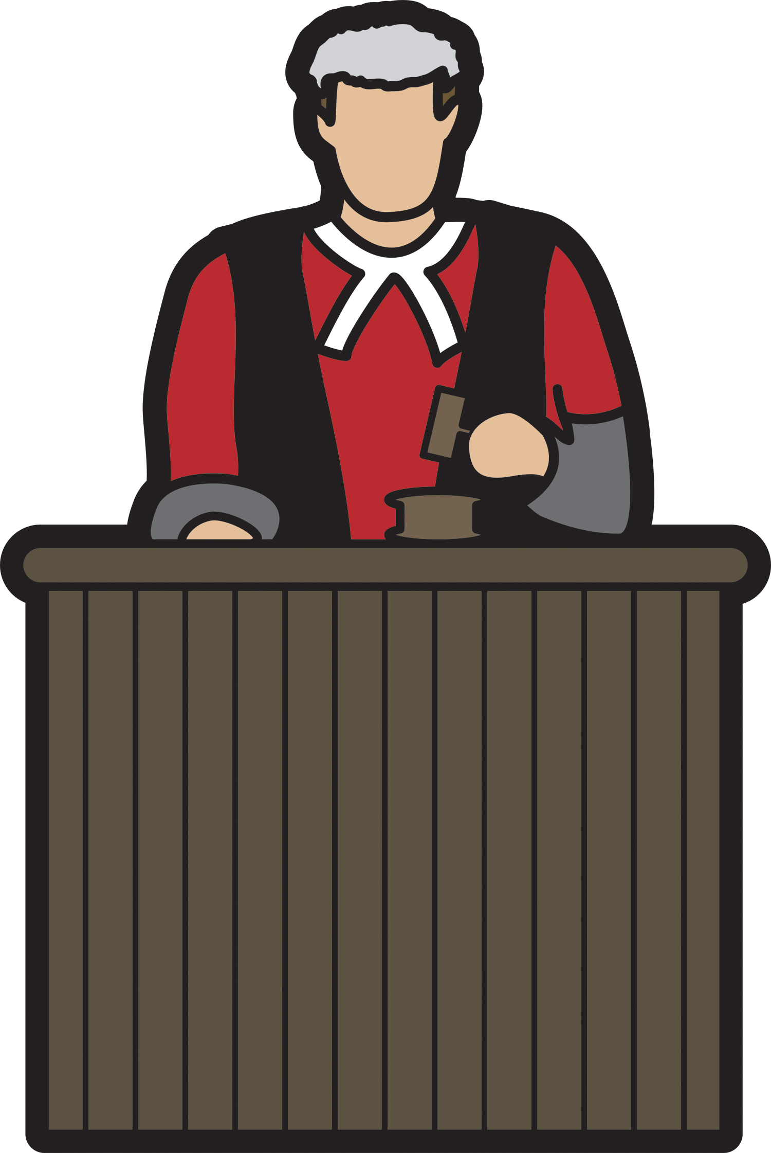 Court drawing cartoon. Free judge download clip
