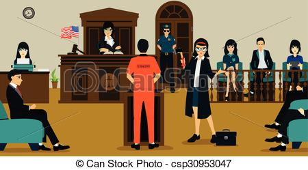 Prosecution illustrations and clip. Court clipart png library stock