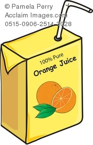 Orange drink box with. Juice clipart image library