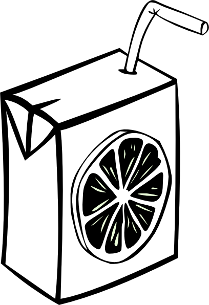 Juice clipart colouring page. J is for box