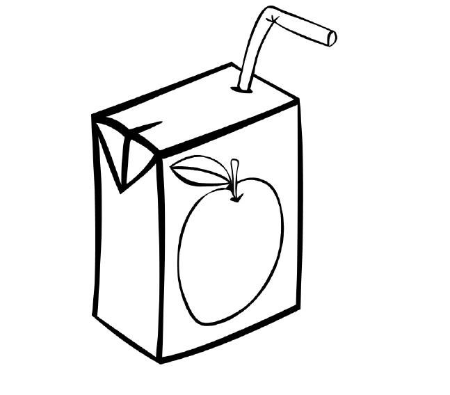 Juice clipart colouring page. Best teaching kids
