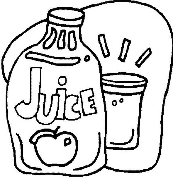 Juice clipart colouring page. Drawing at getdrawings com