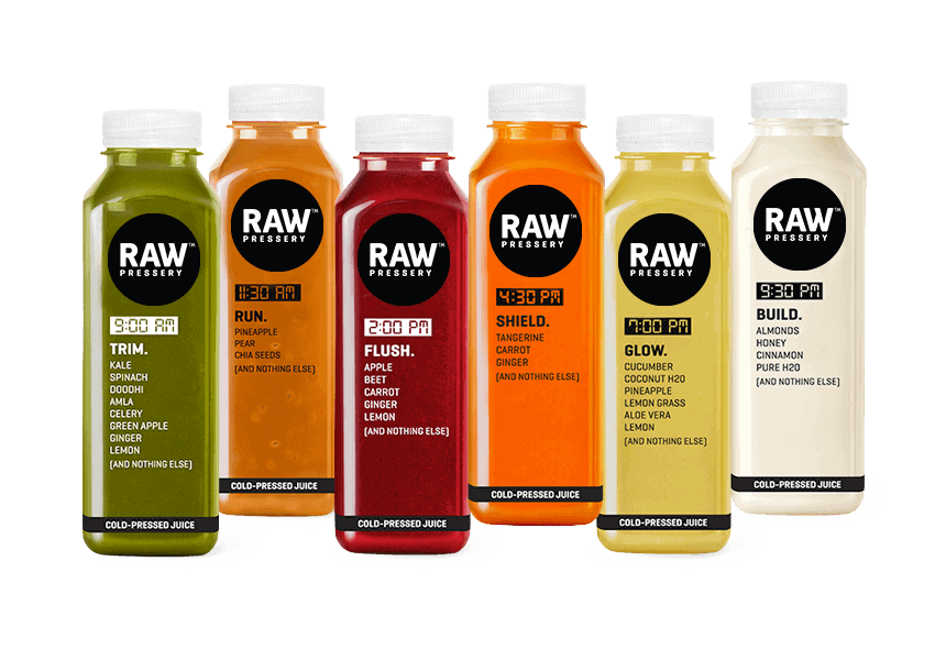 Juice vector cold pressed. Light cleanse raw pressery