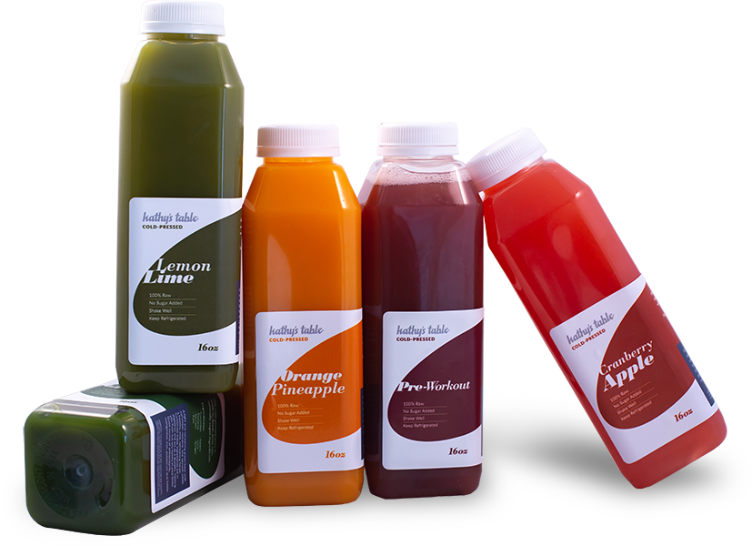 Juice vector cold pressed. Kathy s table organic