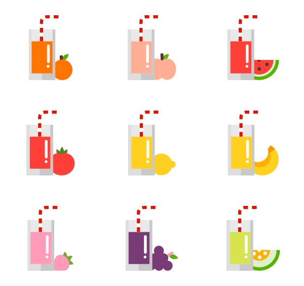 Juice vector fruit. Icons free and vegetable