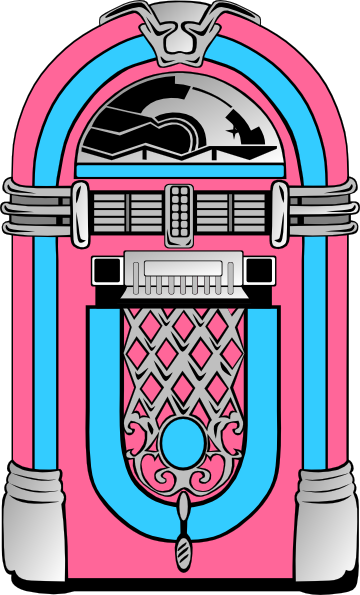 Jukebox clipart vector. Pink and blue clip