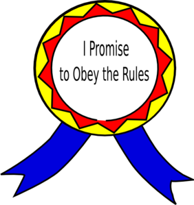 Julia vector clipart. Obey the rules badge