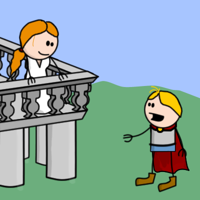 Juliet drawing balcony. Romeo and clipart at