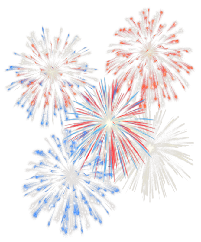 th july transparent. Png fireworks banner free stock