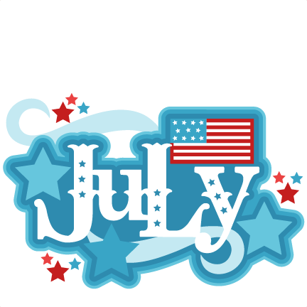 July clipart. Title svg scrapbook cut
