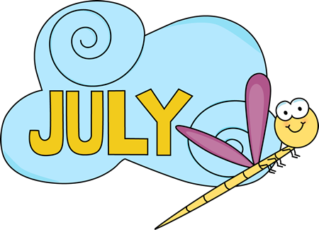 July clipart. Word