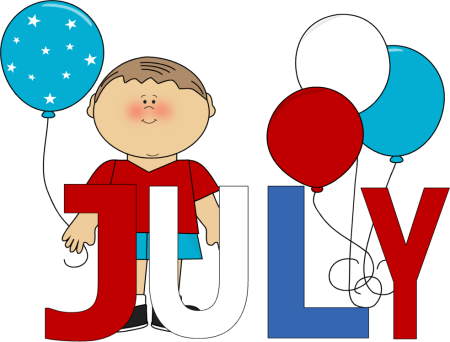 July clipart. Month of