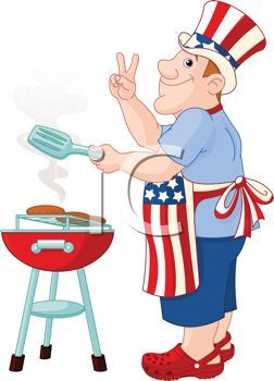 July clipart fourth july food. Funny of cartoons cartoonofadadgrillingburgersforthethofjulyclipartimage