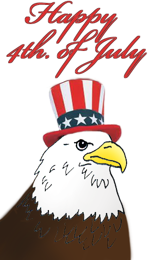 Animals clipart 4th july. Th of eagle