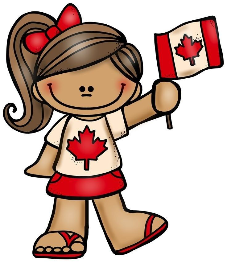 Canada day craft sketch. July clipart person canadian image free