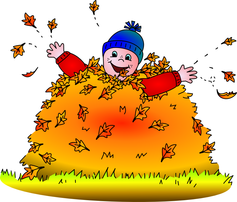 Jump clipart leaf pile. Is it hot in