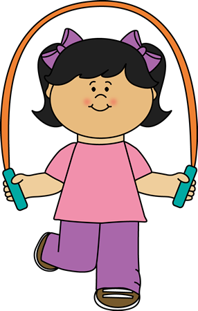 Jump clipart toddler. Girl playing with rope