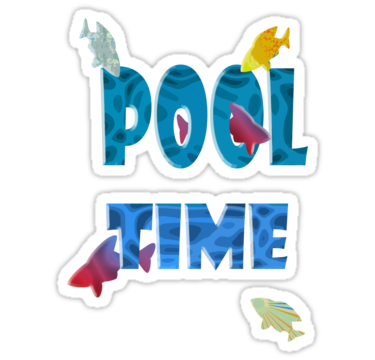 June clipart pool time. Be good or at