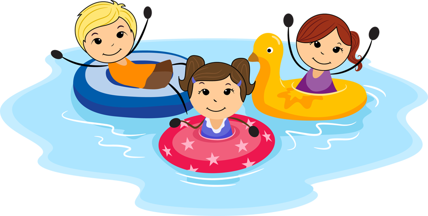 June clipart pool time. Water park hours foam
