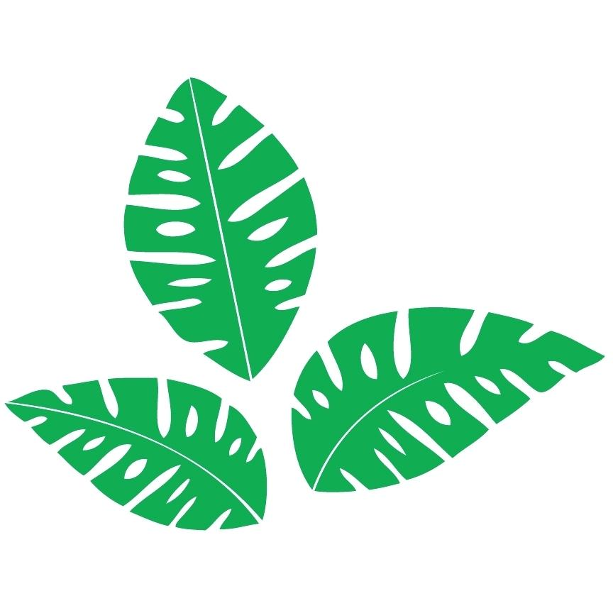 Jungle clipart jungle foliage. Leaves clip art free
