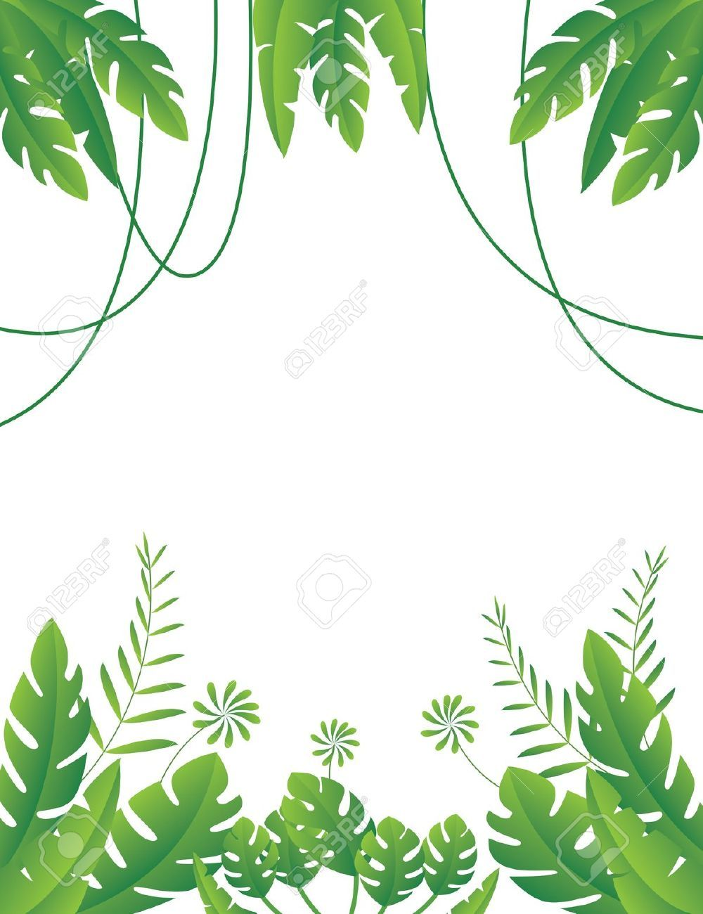 Jungle clipart jungle foliage. Safari party pinterest