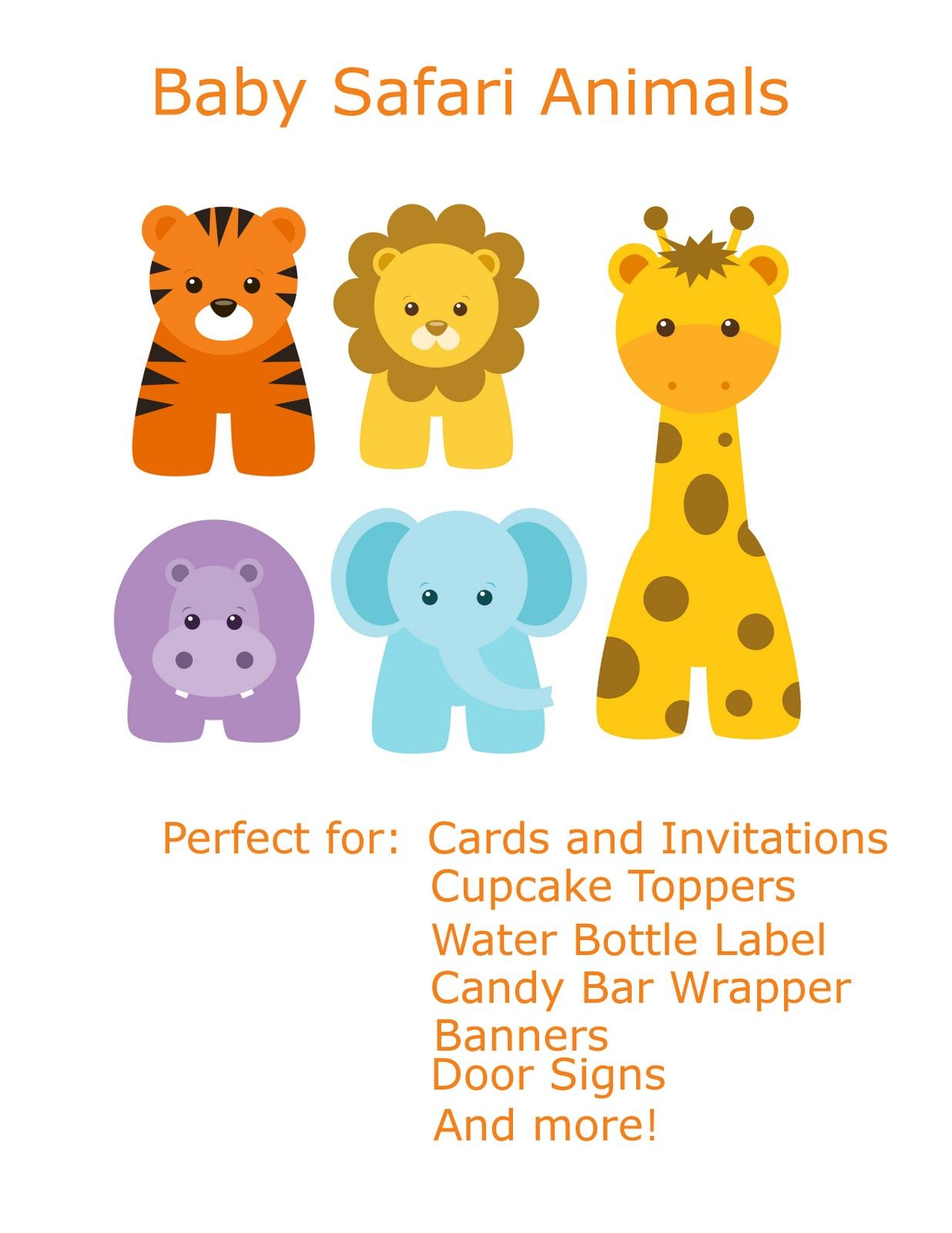 Safari clipart child. Free baby animal clip