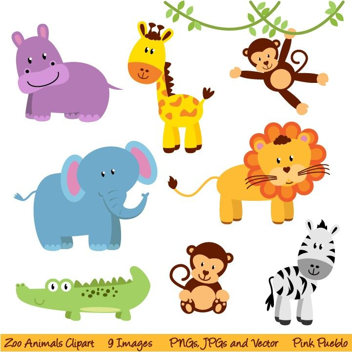 Safari clipart safari themed. Free printable jungle animals