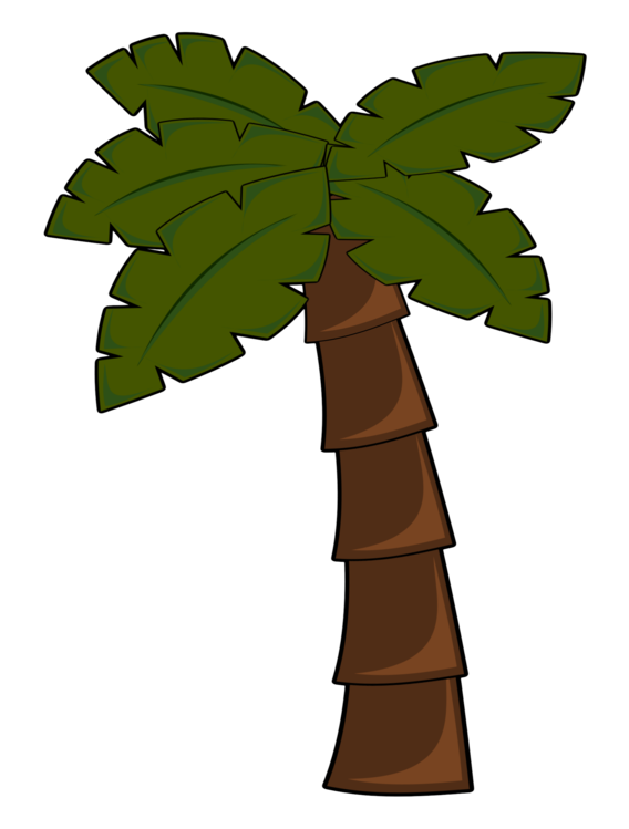 Arecaceae computer icons jungle. Leaf clipart coconut tree free download