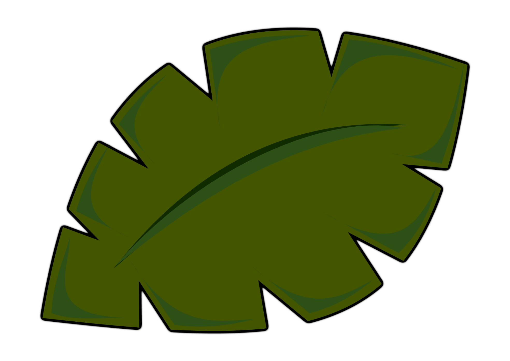 leaf clipart coconut tree