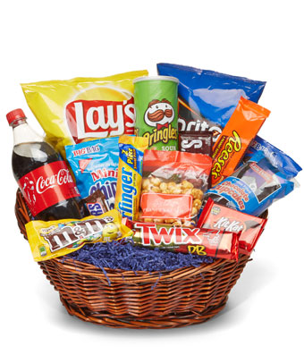 Junk clipart auction basket. The deluxe food at