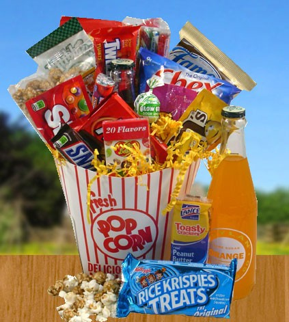 Junk clipart auction basket. Movie gift baskets time