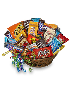 Junk clipart auction basket. Food gift in manteo