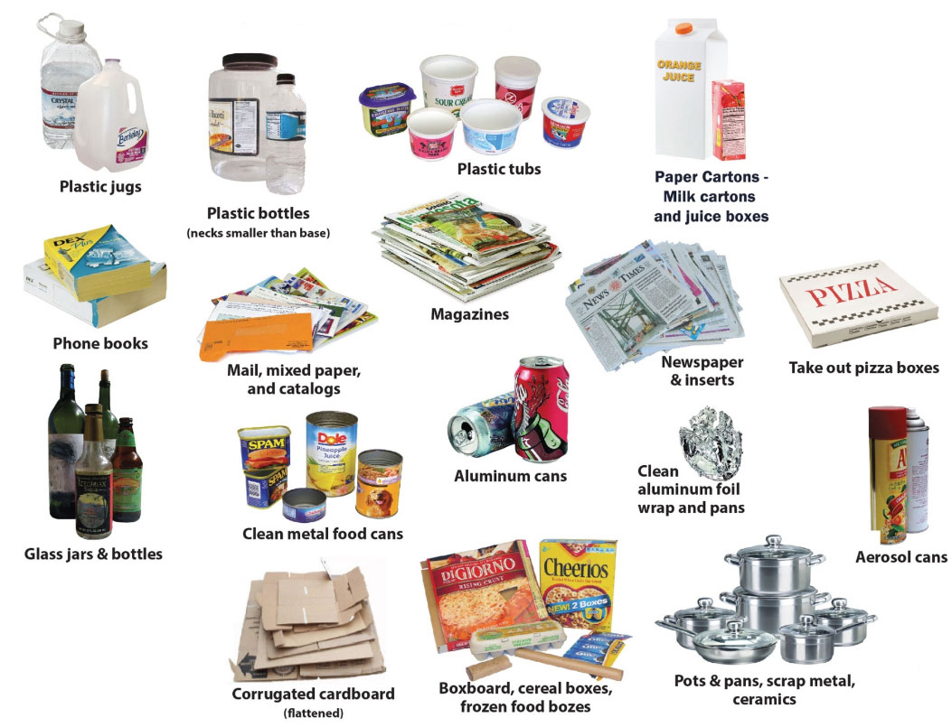 Recycling clipart recyclable item. Recyclables dc trash of