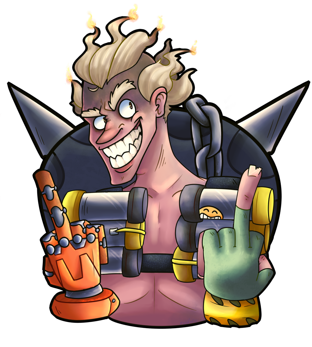 Junkrat 1280x720 png. By maskarie on deviantart