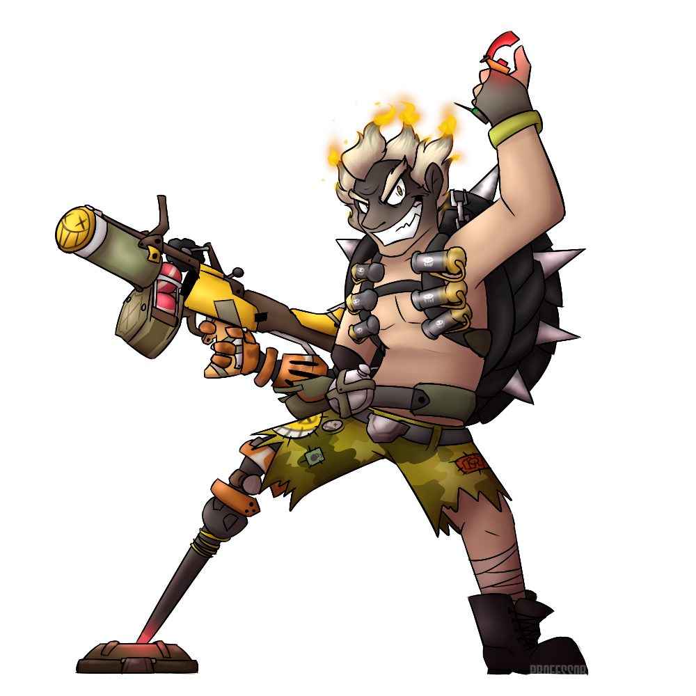 Junkrat 1280x720 png. Overwatch is my waifu