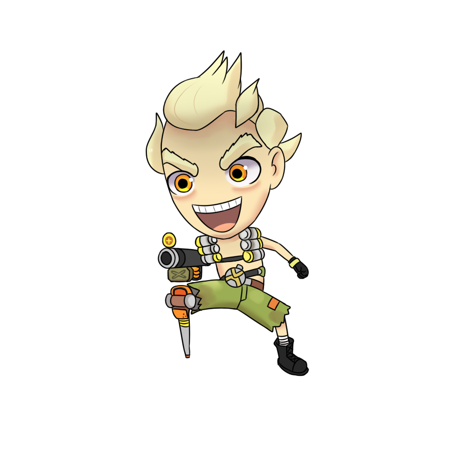 Animate drawing chibi. Fan art junkrat overwatch