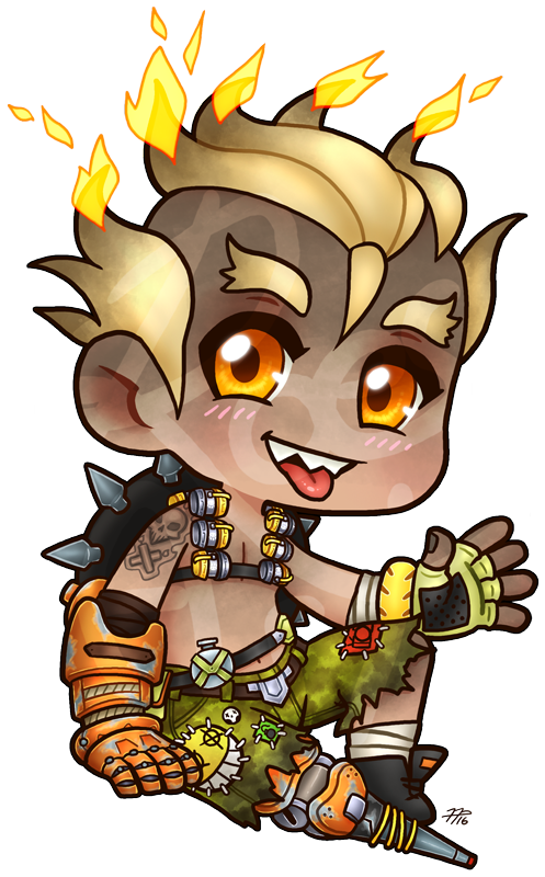 transparent junkrat punk