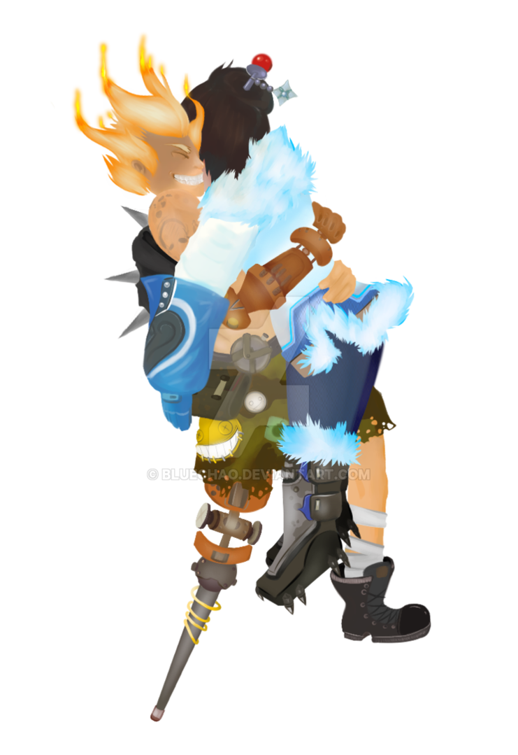 Junkrat jester png. And mei by bluechao