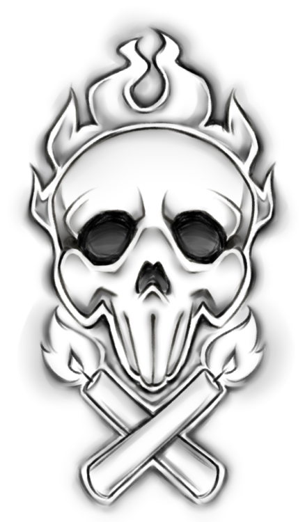 mad drawing skull