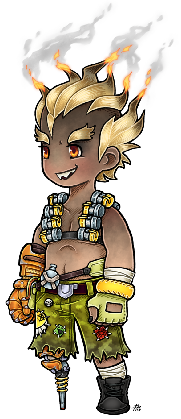 Transparent junkrat firework. Ff styled by roseannepage
