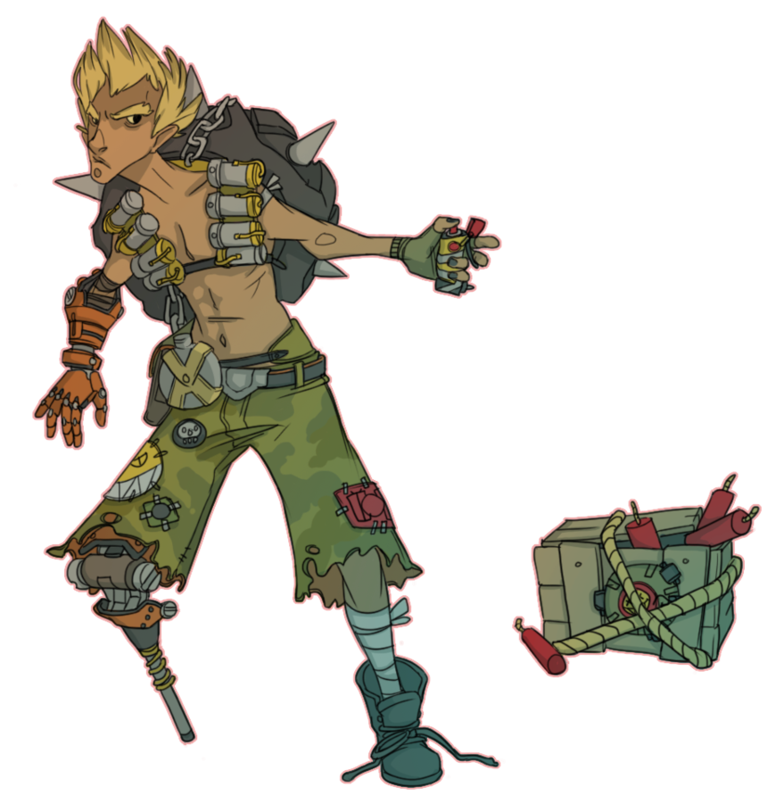 Transparent junkrat firecracker. Fanart by rac on