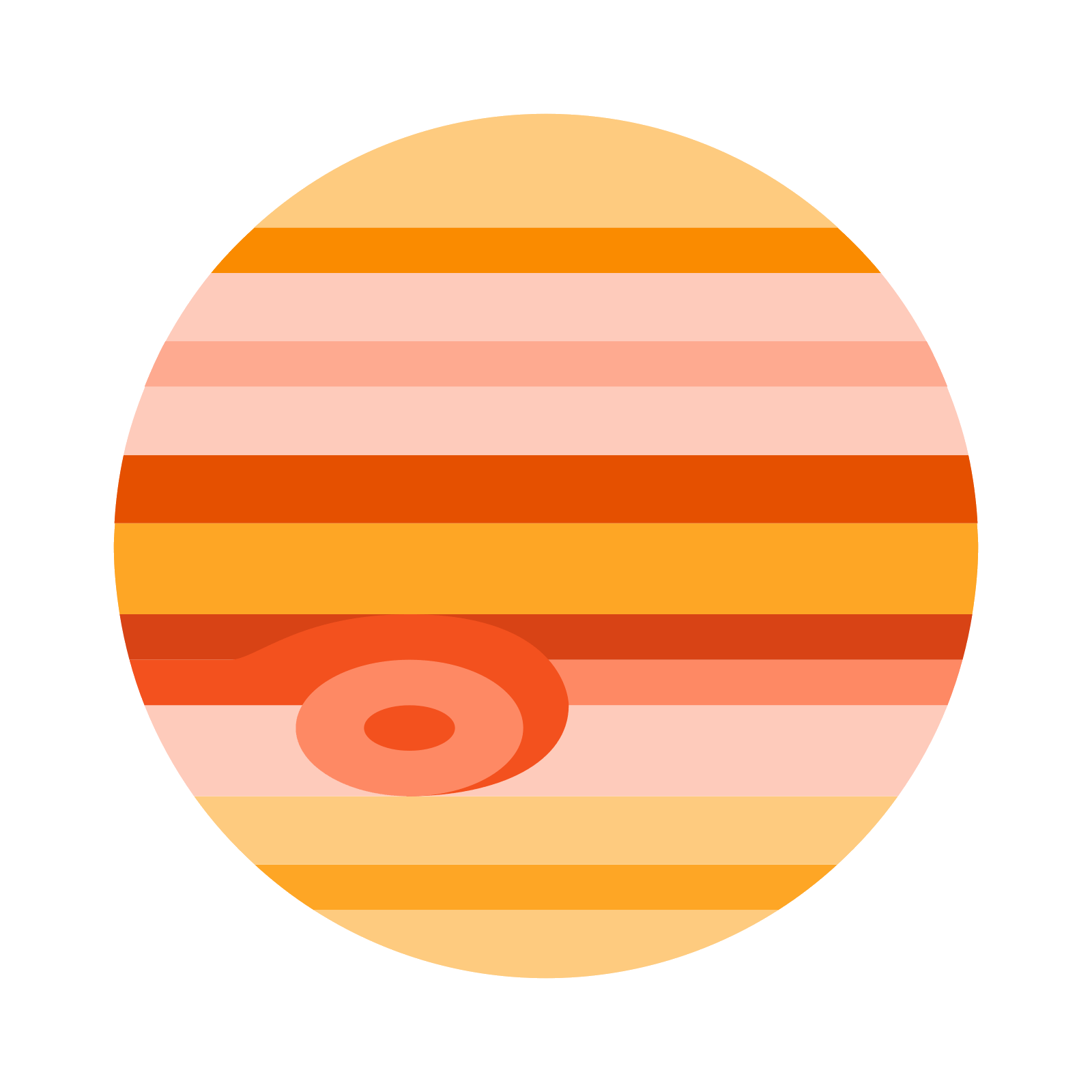 Jupiter planet png. Icon